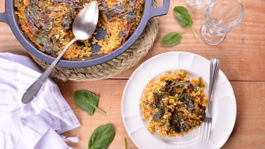 Arroz de la huerta en costra elena aymerich receta for Canal cocina cocina de familia