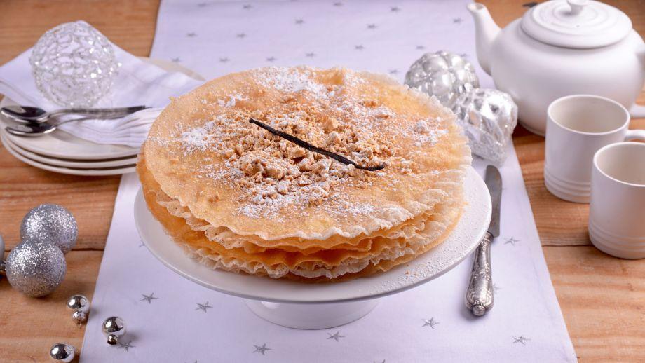 Pastela de turr n y caramelo elena aymerich receta for Canal cocina cocina de familia