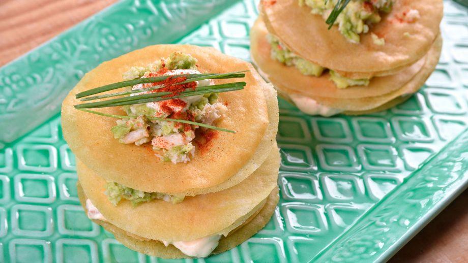 Milhojas de marisco y aguacate elena aymerich receta for Canal cocina cocina de familia