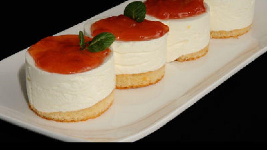 Mousse de yogur con mermelada de tomate diana cabrera - Como hacer mousse de yogurt ...