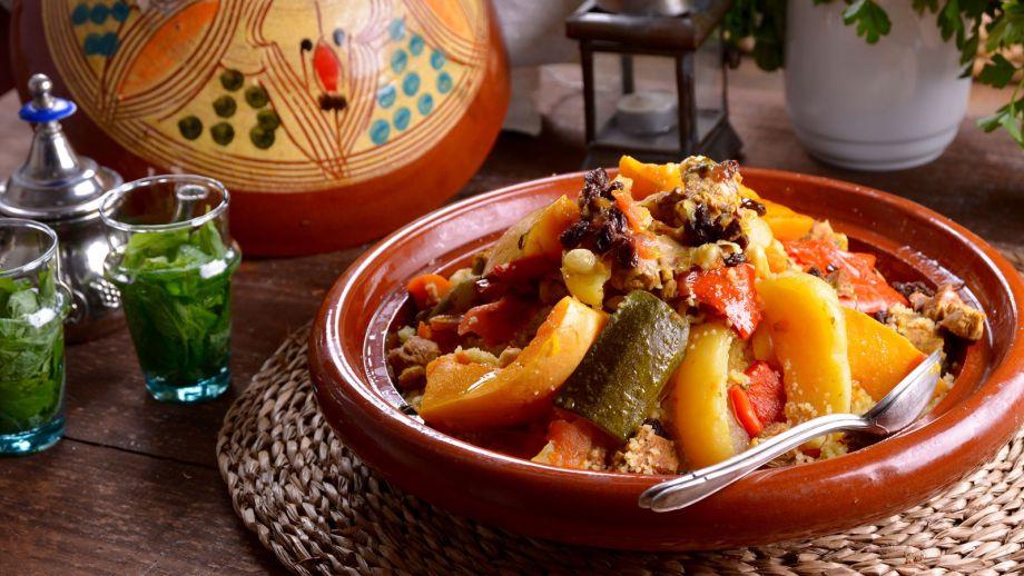 Cusc s de fez de 7 verduras couscous dial fes najat - Cordero estilo marroqui ...