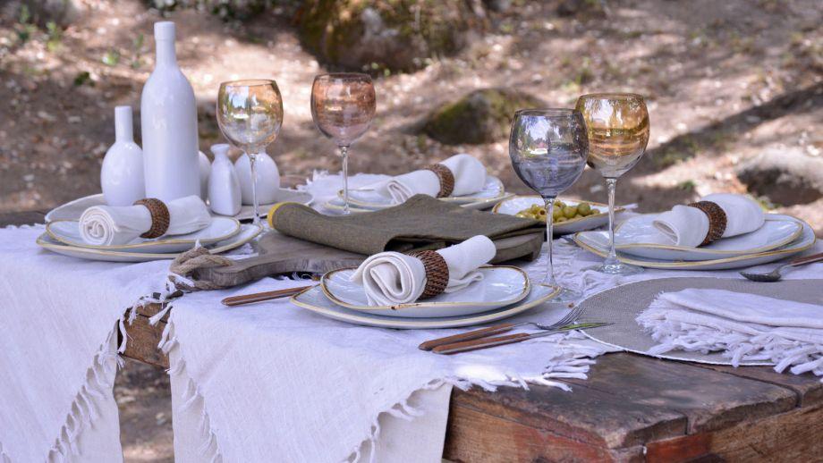 consejos para decorar una mesa de estilo mediterrneo