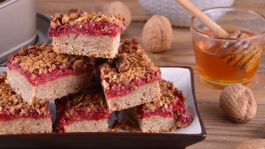 Barritas de granola con frambuesas alma obreg n receta canal cocina - Canal cocina alma obregon ...