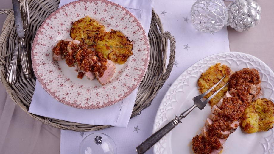 Solomillo de cerdo con rosti de patata elena aymerich for Canal cocina cocina de familia