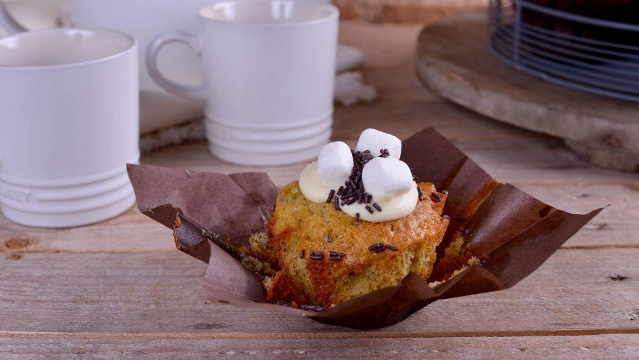 Muffins de vainilla con chips de chocolate alma obreg n for Canal cocina alma obregon