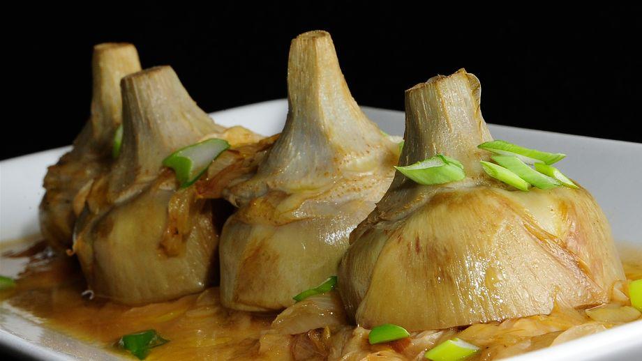 C Cocina Sergio Fernandez Cocinamos Contigo   Alcachofas Encebolladas Sergio Fernandez Receta Canal Cocina