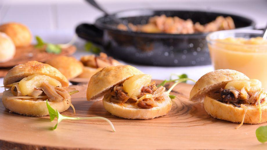 Ochios rellenos de morcilla y setas con pur de manzana for Canal cocina tapas