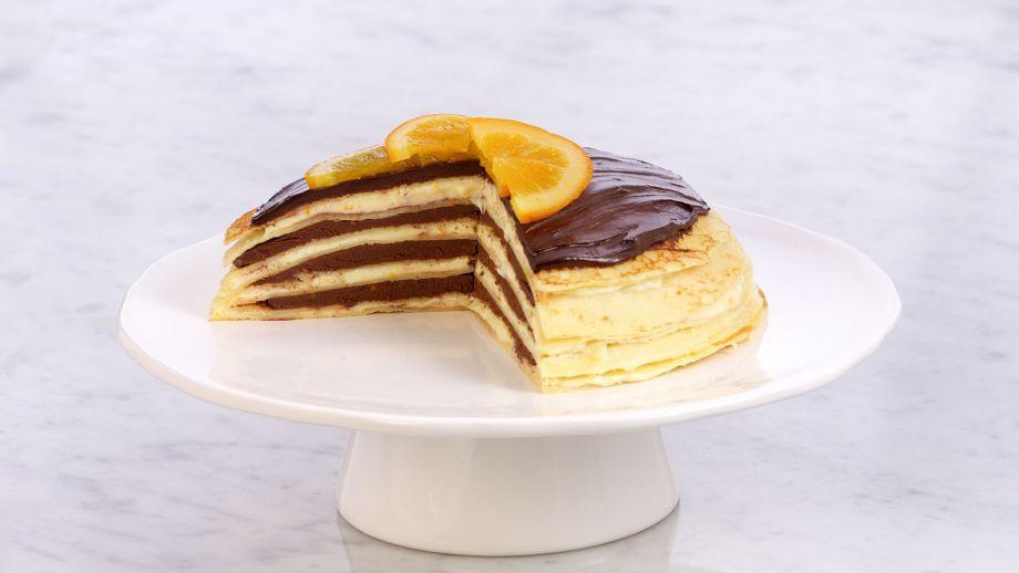 Tarta De Crepes Con Chocolate A La Naranja Chocolate Orange Crepe Torte Anna Olson Receta Canal Cocina