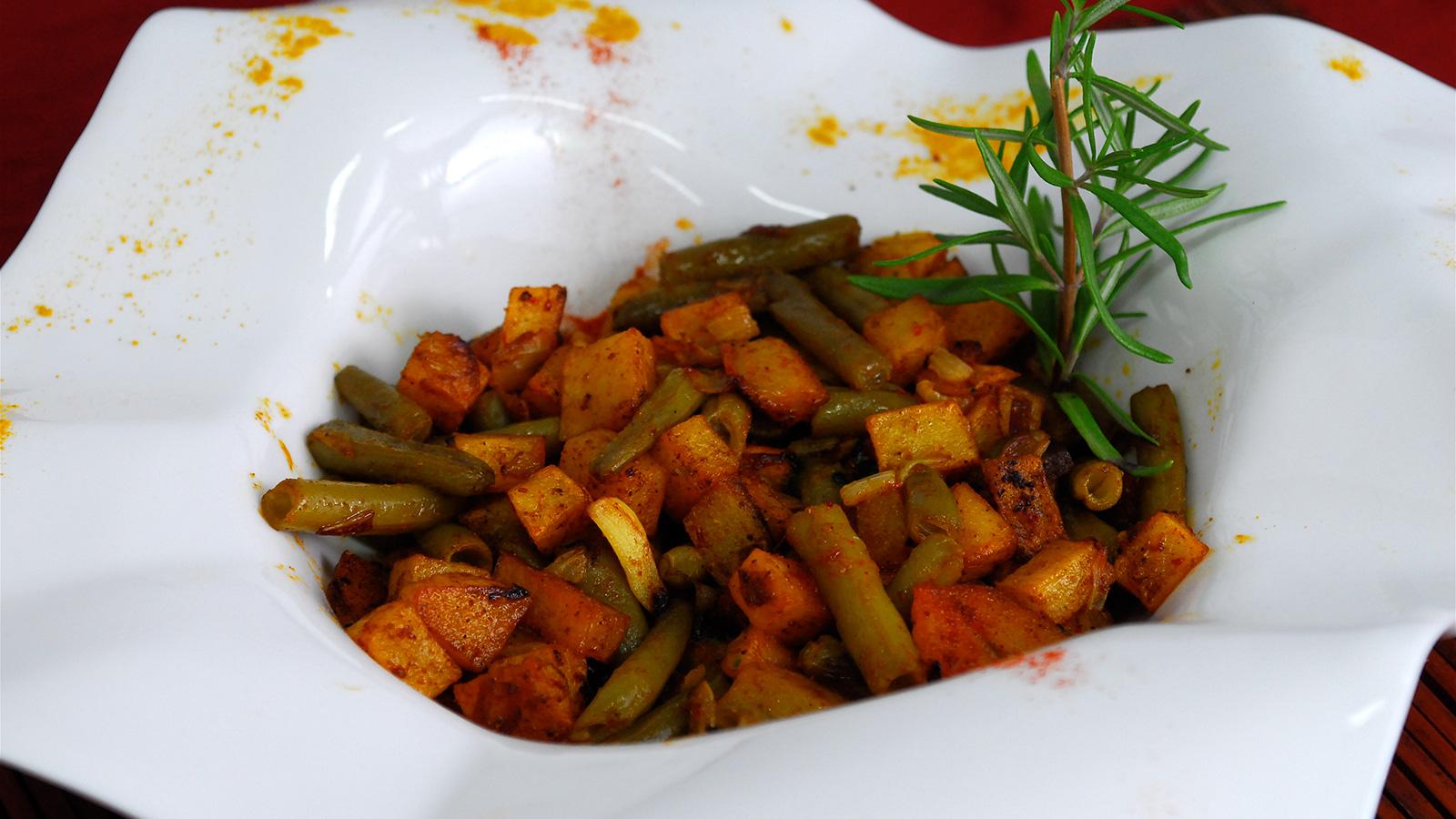 Patatas con jud as verdes al curry julius julio - Tiempo coccion judias verdes ...
