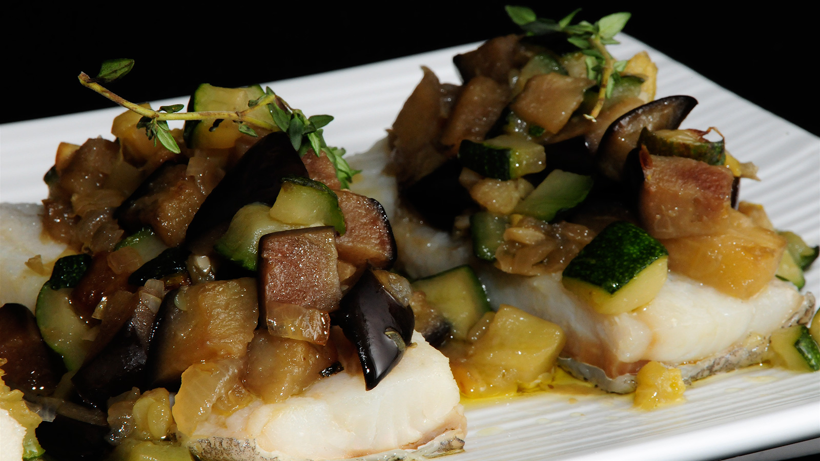 Bacalao con pisto diana cabrera video receta canal for Diana cabrera canal cocina