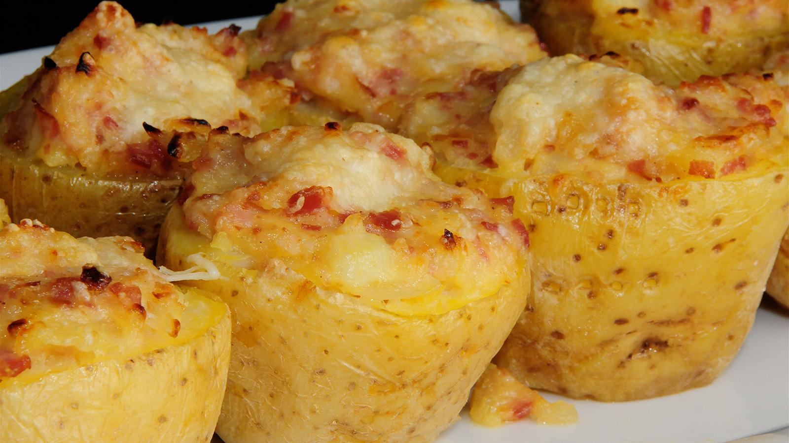 Patatas Rellenas De Carbonara Diana Cabrera Video Receta  ~ Tortilla De Patatas Baja En Calorias