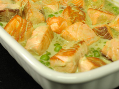 Salm n con salsa de guisantes diana cabrera receta for Diana cabrera canal cocina