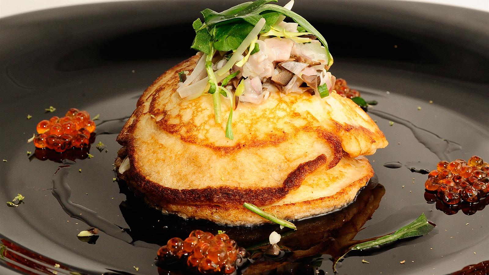 Como Cocinar La Trucha | Caballa En Tartar Con Huevas De Trucha Sobre Blinis De Patata Y