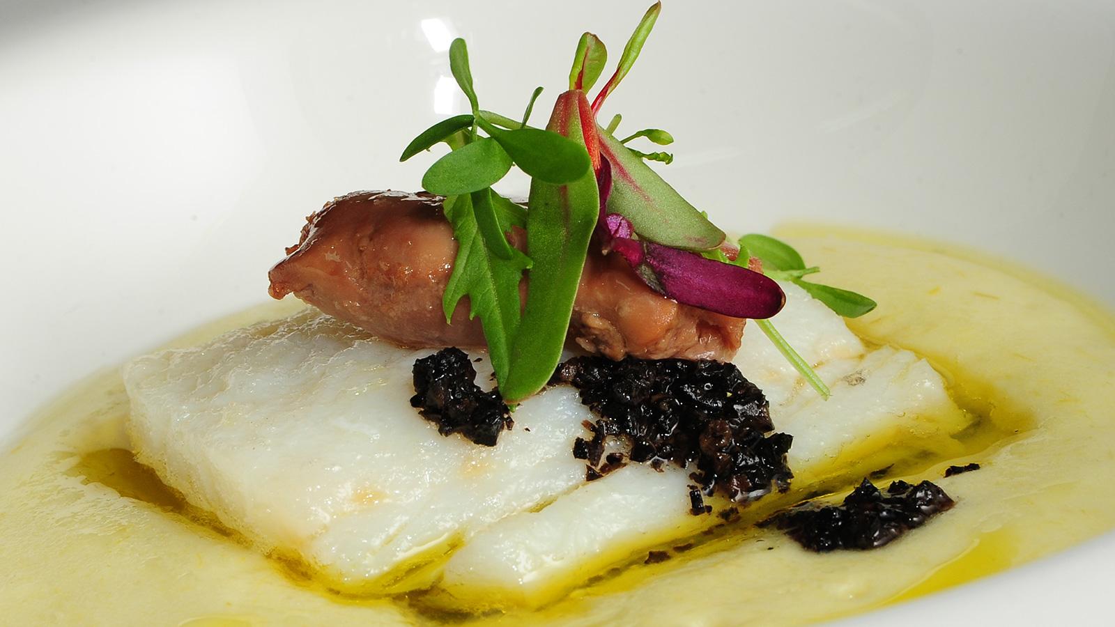 Bacalao confitado con pur de patata sergio fern ndez for Cocina bacalao con patatas