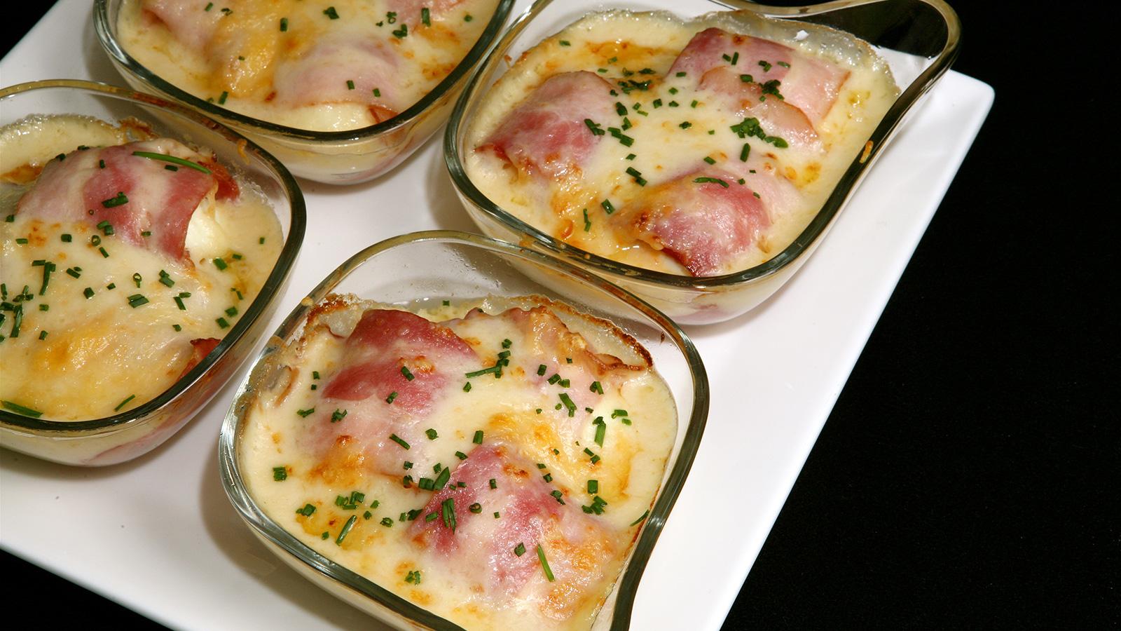 Huevos gratinados con bacon - Diana Cabrera - Receta ...