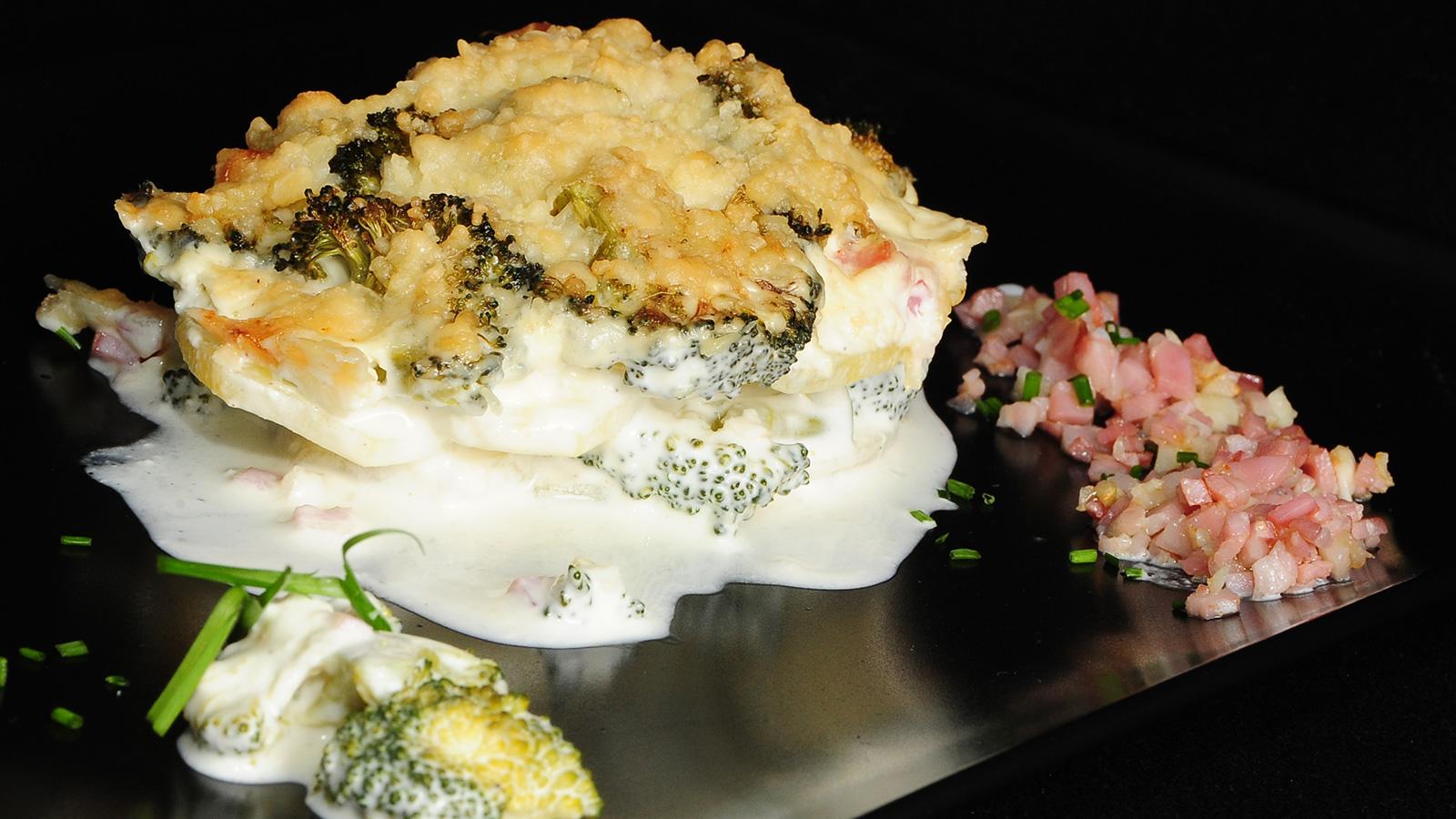 Grat n de br coli con queso manchego y beicon chema de for Chema de isidro canal cocina