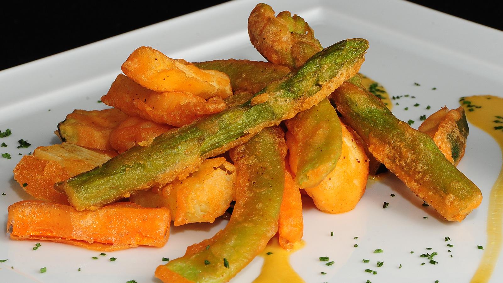 Tempura de verduras de temporada con ali oli chema de for Chema de isidro canal cocina