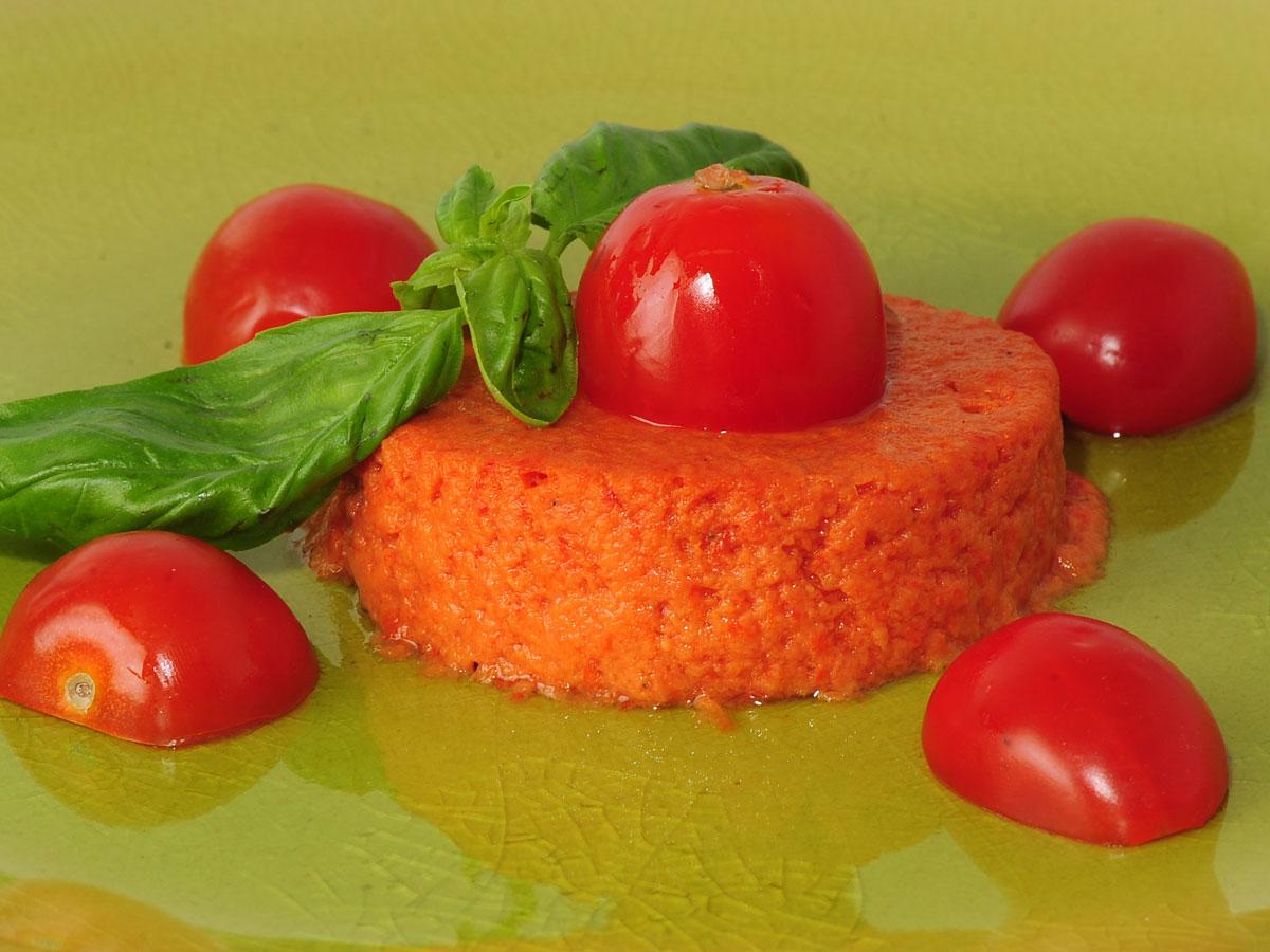 flan de tomates rama samantha vallejo n gera samantha de espa a receta canal cocina. Black Bedroom Furniture Sets. Home Design Ideas