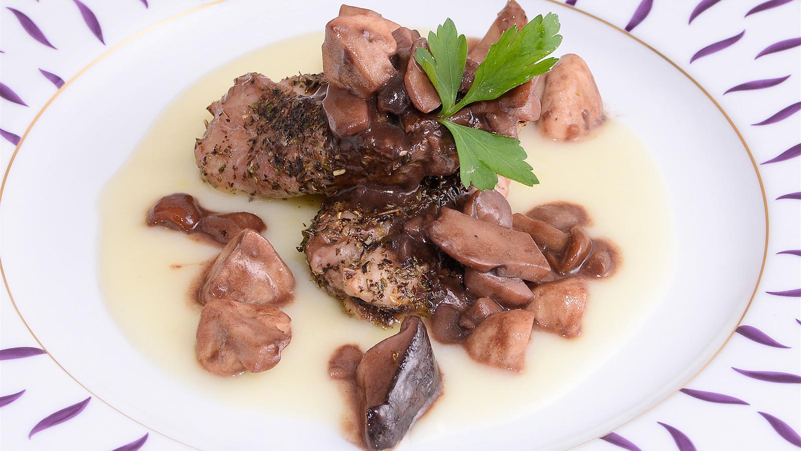 Conejo con setas y pur de manzana diana cabrera receta canal cocina - Diana cabrera canal cocina ...