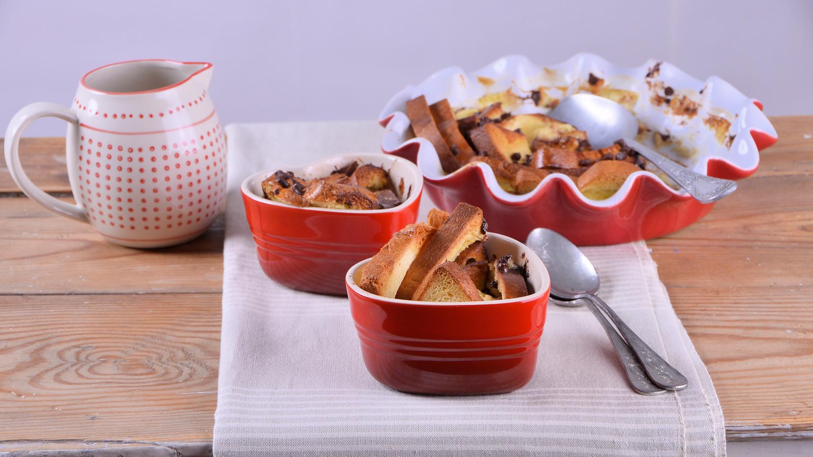 Bread butter pudding con chips de chocolate alma for Canal cocina alma obregon