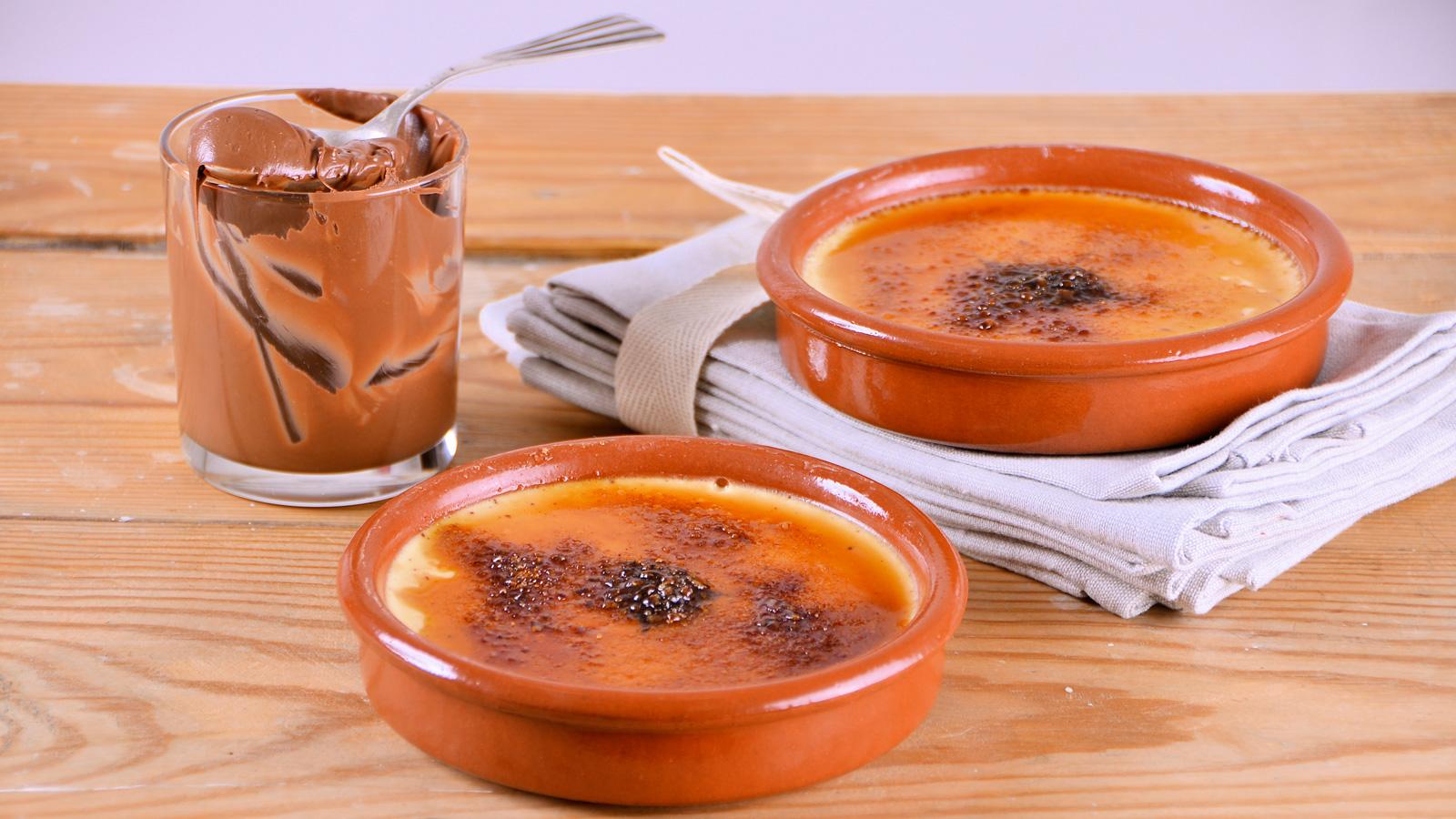 Cr me brulee de chocolate y avellanas alma obreg n for Canal cocina alma obregon