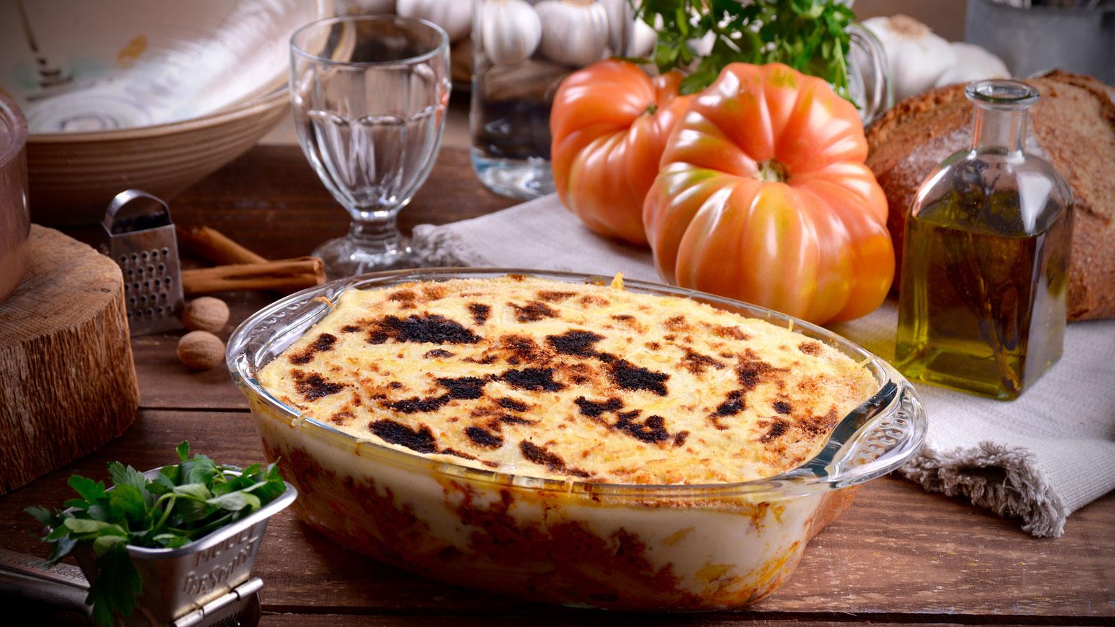 pastel de macarrones y carne pastitsio mar a zannia