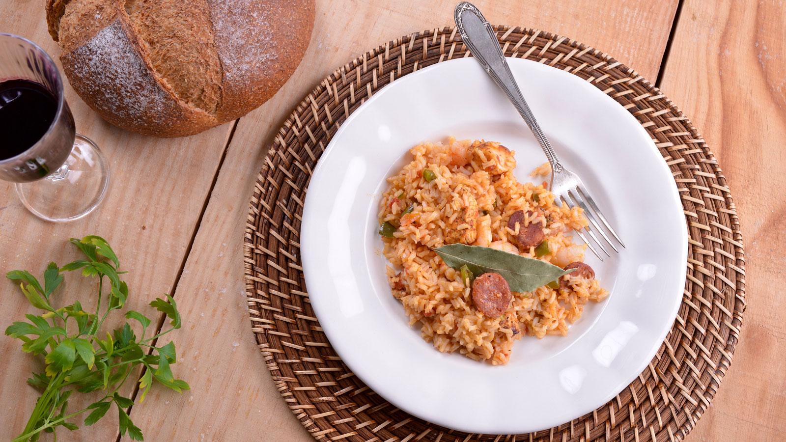 Jambalaya caj n de gambas elena aymerich receta for Canal cocina cocina de familia