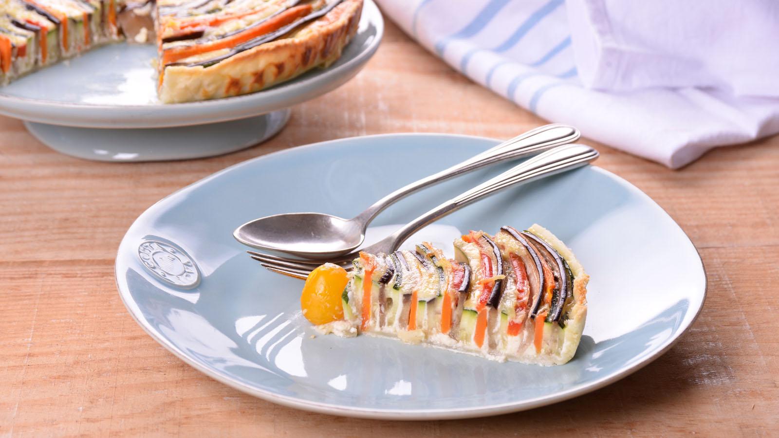 Tarta caleidoscopio de verduras elena aymerich receta for Canal cocina cocina de familia