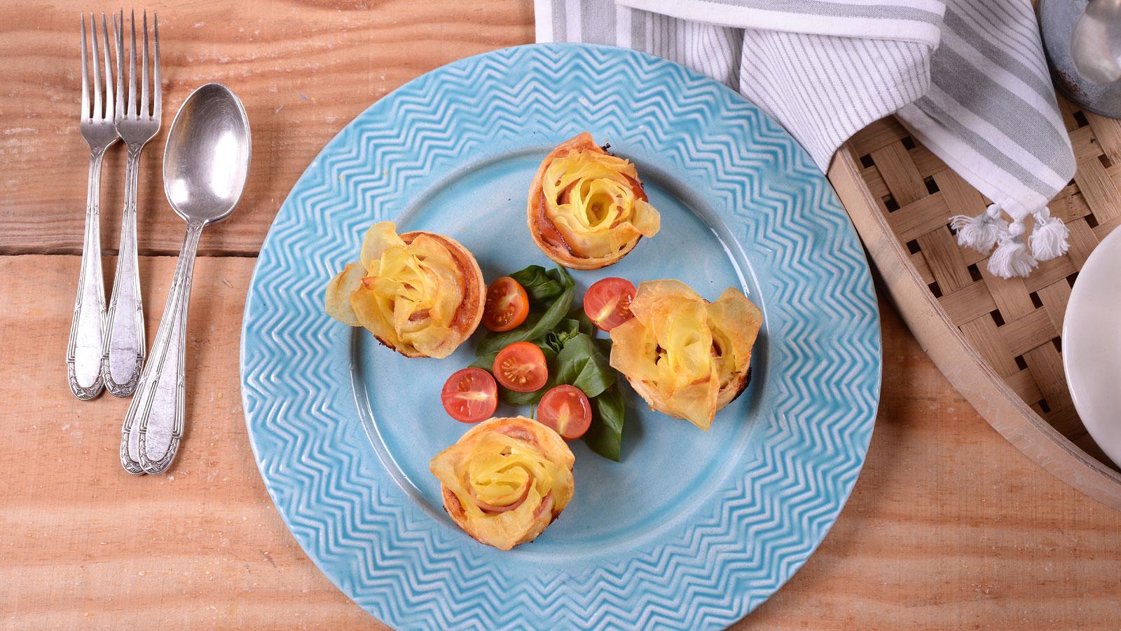 Rosas de patata con beicon y nata elena aymerich for Canal cocina cocina de familia