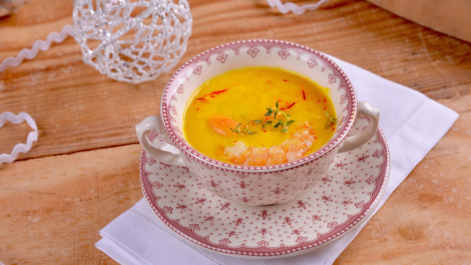 Cremoso de azafr n con langostinos elena aymerich for Canal cocina cocina de familia
