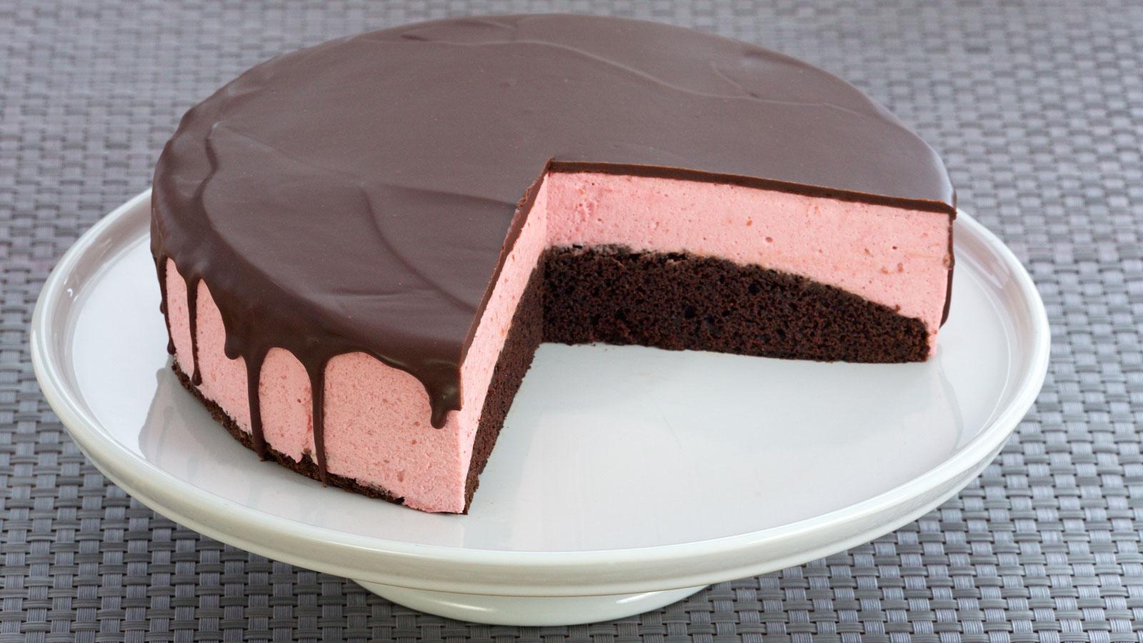 Tarta De Chocolate Negro Y Mousse De Frambuesa Raspberry
