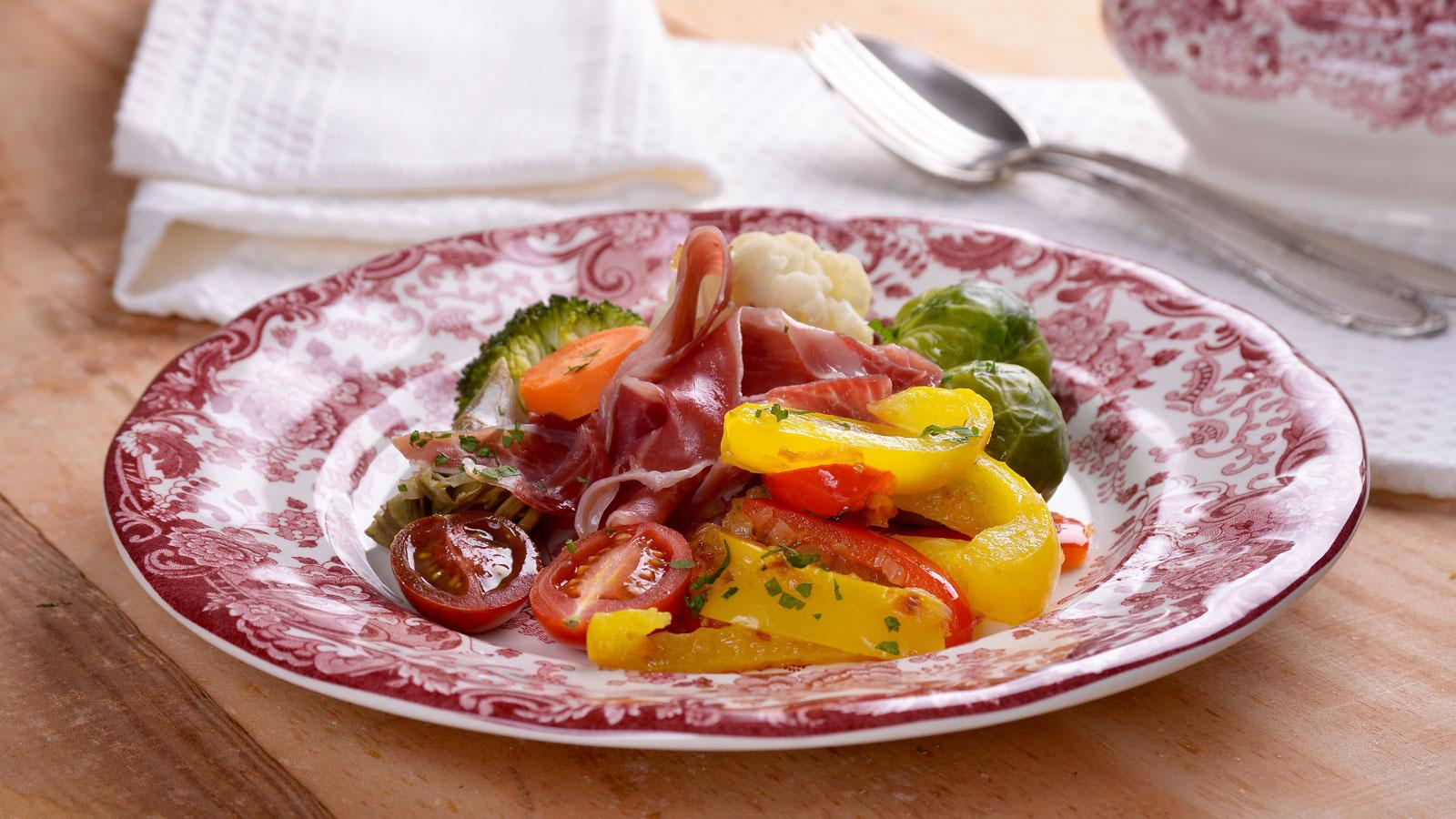 Menestra de hortalizas con velout de jam n elena for Canal cocina cocina de familia