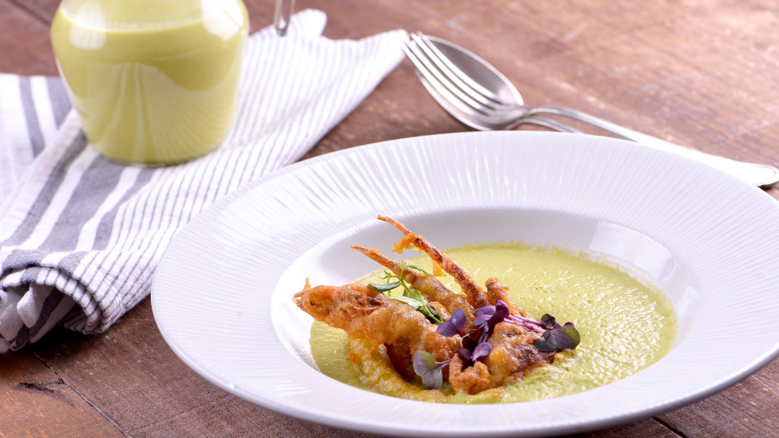 Crema de calabac n y puerro sergio fern ndez receta for Canal cocina sergio fernandez
