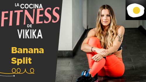 Banana split con crema de cacahuete fitness vikika ver nica costa video receta canal - La cocina fit de vikika ...