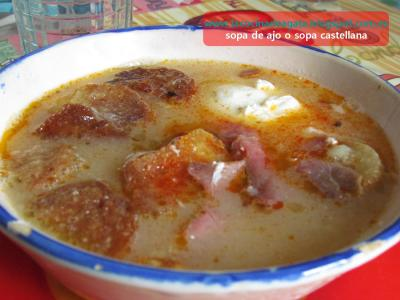 Sopa de ajo o sopa castellana lacocinadeagata receta - Sopa castellana casera ...