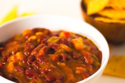 Chili Vegano De Alubias Rojas