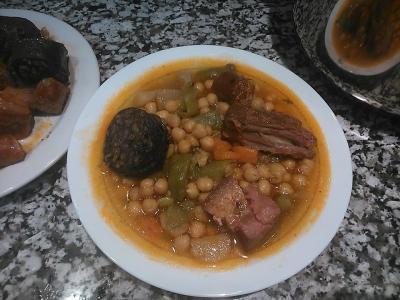 Potaje de garbanzos con judias verdes madafer receta - Potaje de garbanzos y judias ...