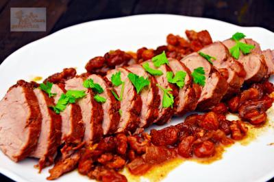 Solomillo de cerdo iberico con pasas y nueces for Como preparar solomillo