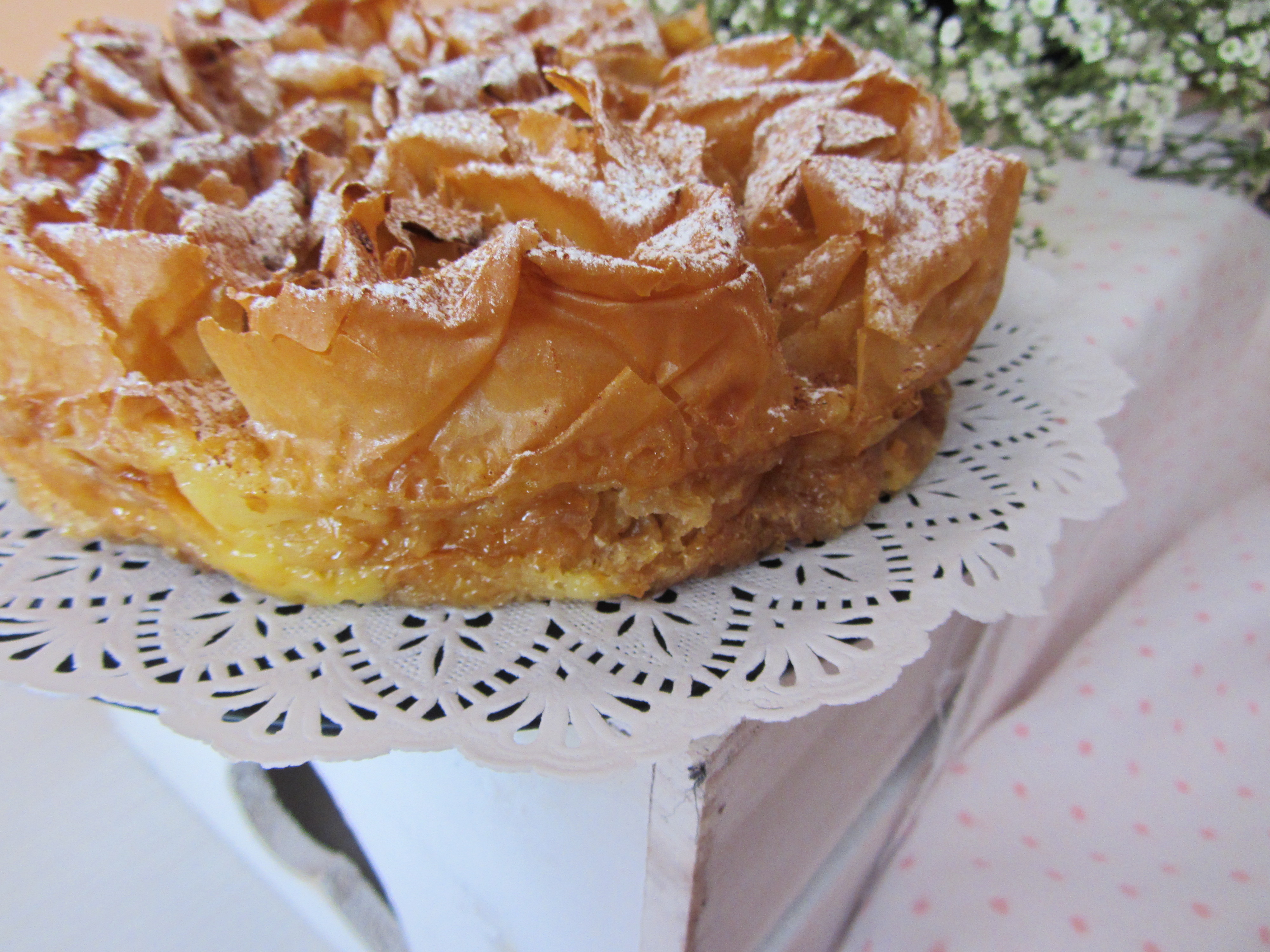 Ruffled milk pie pastel de leche rizado sany027 - Que hacer con la pasta filo ...