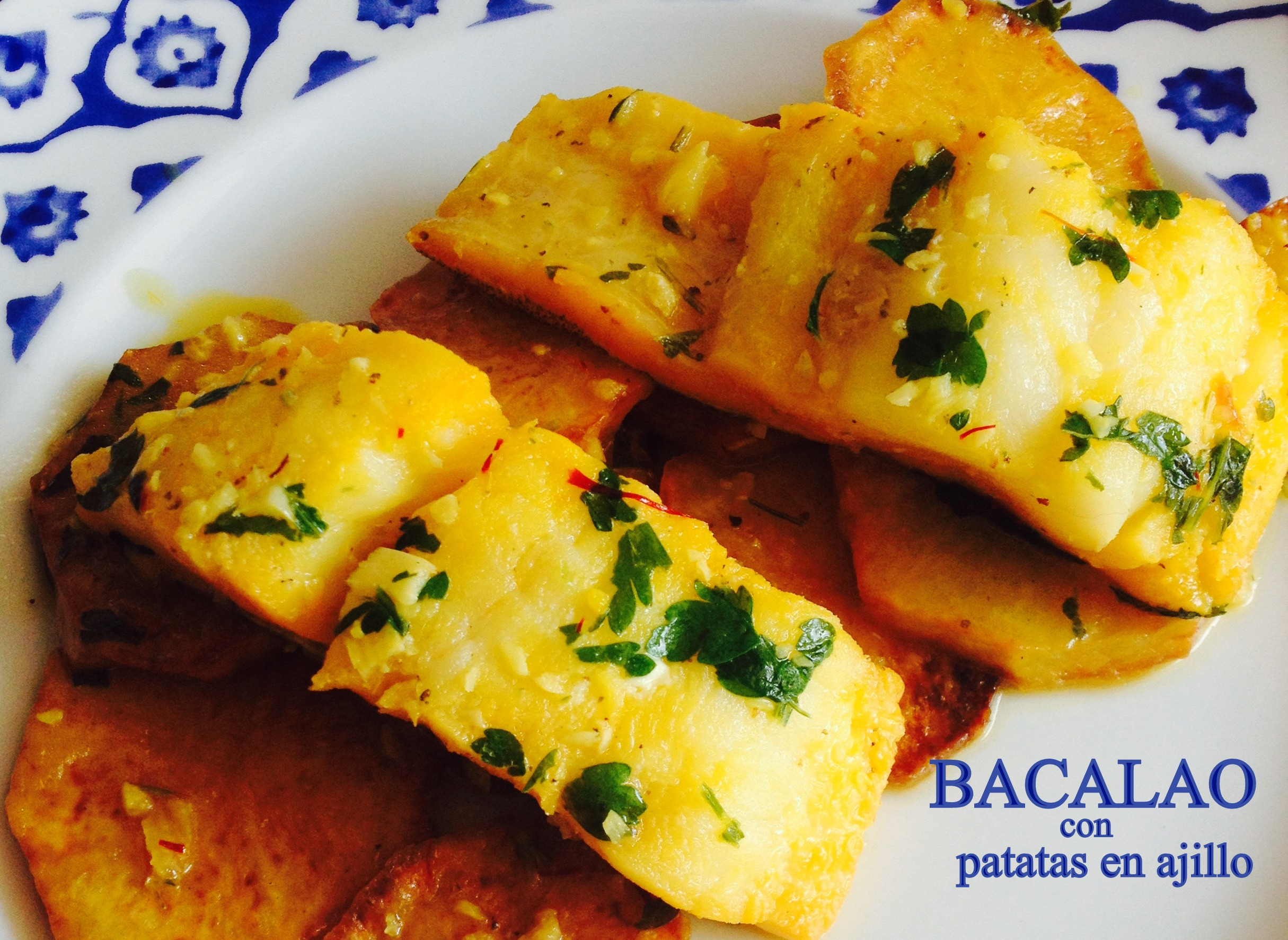 Bacalao con patatas ali adas niny receta canal cocina for Cocina bacalao con patatas