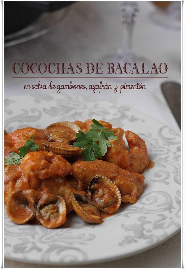 Cocochas de bacalao en salsa de gambones azafr n y for Cocinar cocochas de bacalao