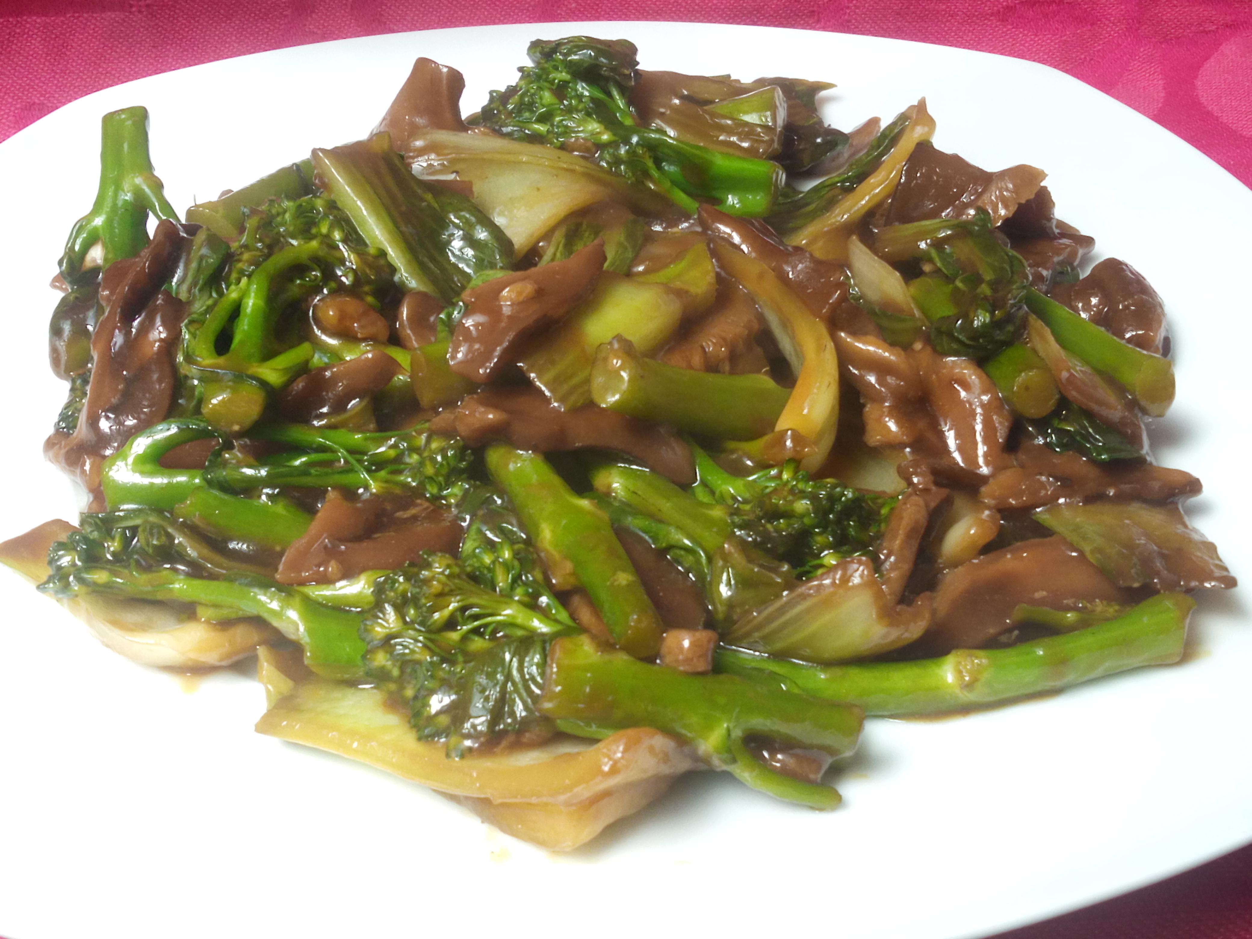 bimi con pak choi y shitake eile receta canal cocina