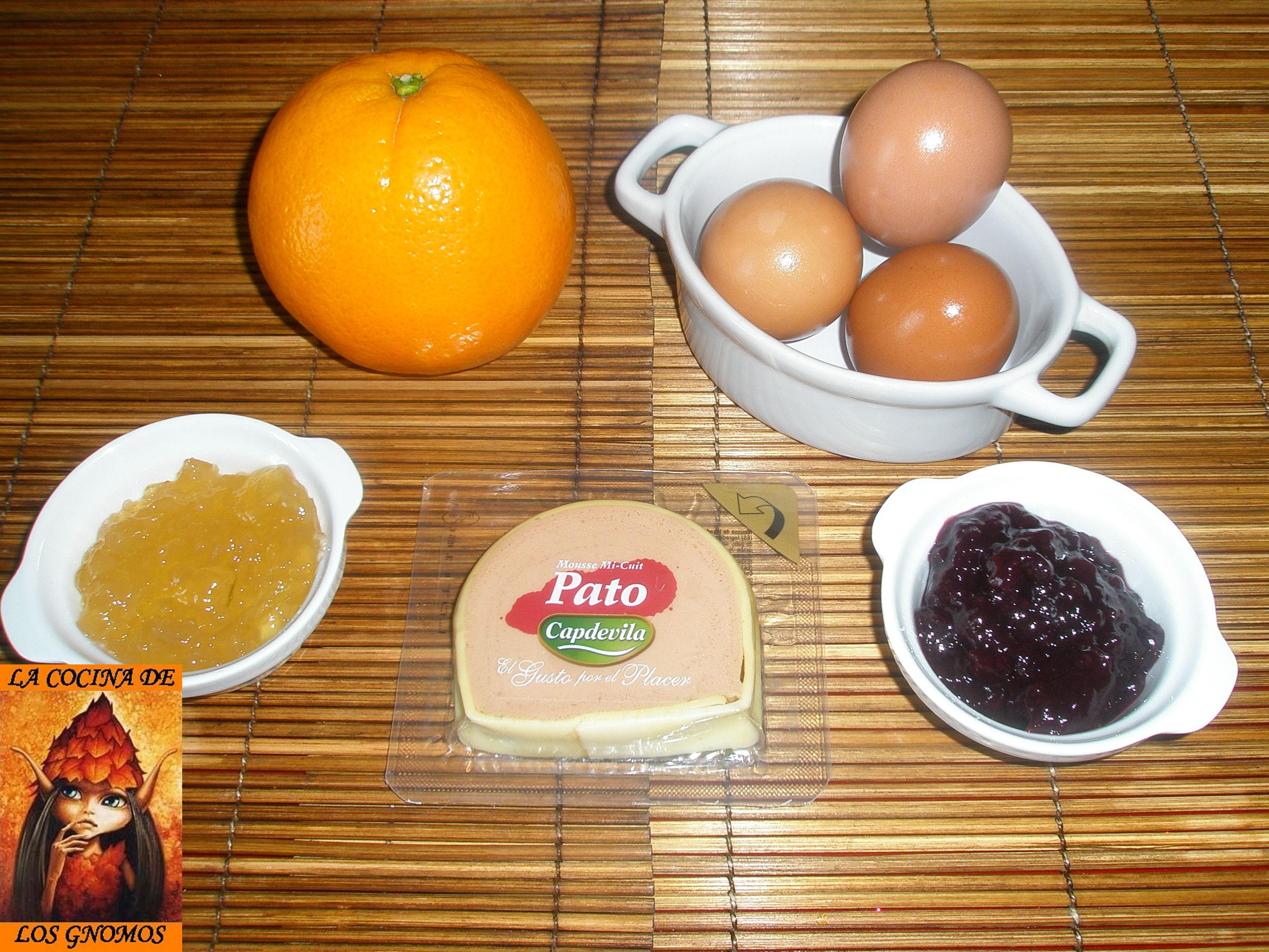 Huevos rellenos de micuit con cebolla caramelizada y for Ingredientes para cocinar