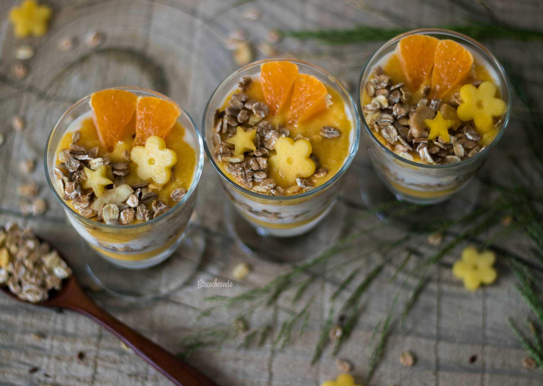 Vasitos De Mango Yogur Y Mandarina Receta Ccocina