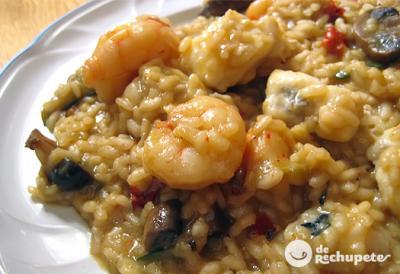 Arroz cremoso con verduras pescado anneann receta - Arroz con pescado y verduras ...