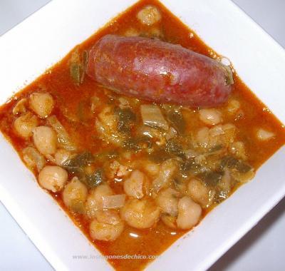 Potaje de garbanzos con acelgas la cocina de chico for Cocinar garbanzos